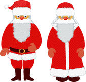 Gelo del padre e del Babbo Natale Fotografia Stock Libera da Diritti