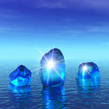 gelo do azul 3d Fotografia de Stock