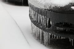 Gelo do carro imagens de stock