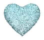 Gelo do coração Foto de Stock Royalty Free
