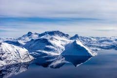 Gelo do interior de Gronelândia Foto de Stock