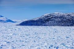 Gelo do interior de Gronelândia Imagem de Stock Royalty Free