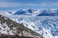 Gelo do interior de Gronelândia Imagem de Stock