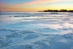 Gelo do inverno Fotos de Stock Royalty Free