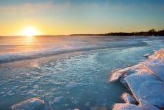 Gelo do inverno Imagens de Stock