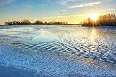Gelo do inverno Imagem de Stock Royalty Free