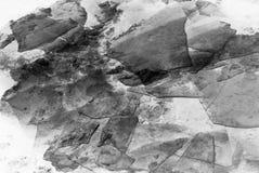 Gelo do inverno, rio congelado ilustração royalty free
