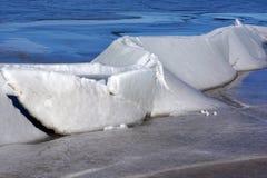 Gelo do lago Fotografia de Stock