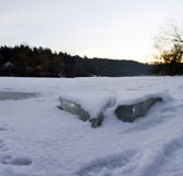 Gelo do rio Imagens de Stock