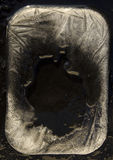 Gelo e fundo preto da madeira compensada fotografia de stock royalty free