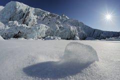 Gelo e geleira de bloco fotografia de stock royalty free