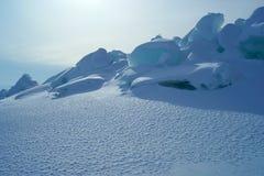 Gelo e neve Fotografia de Stock