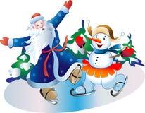 Gelo e palla di neve del padre royalty illustrazione gratis