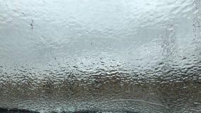 Gelo em um para-brisa imagens de stock
