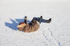 Gelo escorregadiço. imagens de stock