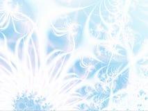 Gelo-flores abstratas Imagens de Stock