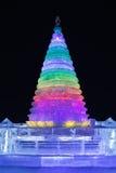 Gelo internacional e festival da escultura de neve, Harbin, China Foto de Stock Royalty Free