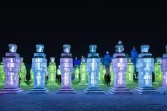 Gelo internacional e festival da escultura de neve, Harbin, China Imagens de Stock Royalty Free