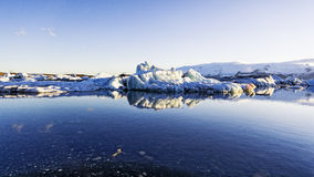 Gelo-Jokulsarlon lagoa-Islândia da geleira Imagens de Stock Royalty Free