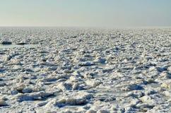 Gelo marinho congelado no inverno, pequeno Fotos de Stock