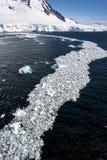 Gelo marinho fora da costa da Antártica Imagem de Stock Royalty Free