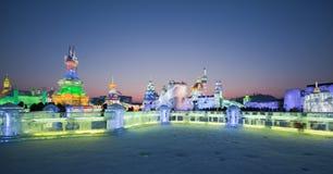 Gelo & mundo harbin China da neve Fotos de Stock Royalty Free