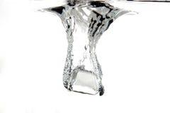 Gelo na água Fotos de Stock Royalty Free