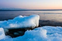 Gelo na praia Foto de Stock