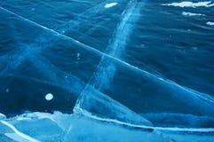 Gelo na superfície do Lago Baikal Imagem de Stock