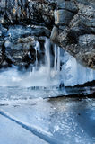 Gelo na superfície do Lago Baikal Imagens de Stock Royalty Free