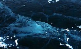 Gelo na superfície do Lago Baikal Fotos de Stock Royalty Free