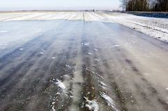 Gelo no campo agricultural Imagem de Stock