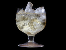 Gelo no copo dos vidros Imagens de Stock