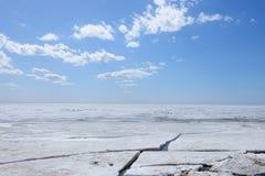 Gelo no mar imagem de stock