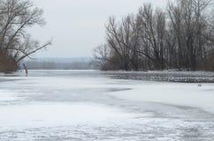 Gelo no rio Fotografia de Stock