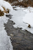 Gelo no rio no inverno Imagem de Stock