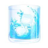 Gelo no vidro ilustração do vetor