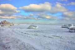 Gelo in Odessa Bay immagini stock libere da diritti
