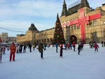 Gelo-pista de Moscou, quadrado vermelho Imagens de Stock