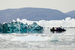 Gelo preto - som de Scoresby - Gronelândia Imagens de Stock