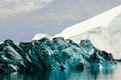 Gelo preto - som de Scoresby - Gronelândia Imagem de Stock