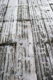 Gelo su legno Fotografia Stock