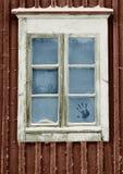 Gelo su una finestra fotografie stock