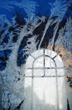 Gelo sulla finestra Fotografia Stock Libera da Diritti