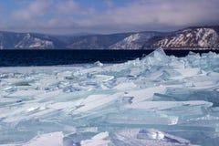 Gelo-tração no Lago Baikal Fotos de Stock Royalty Free