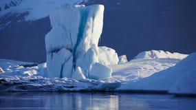 Gelo verde em Jokulsarlon Foto de Stock