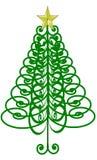 Gelockter Weihnachtsbaum Stockfotos