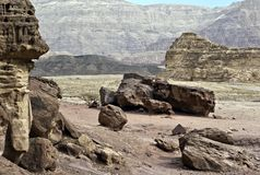 Gelogical formations, Timna park, Israel Stock Photos