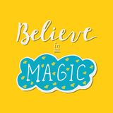 Geloof in het magische van letters voorzien Royalty-vrije Stock Fotografie