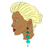 Gelooide blonde Royalty-vrije Stock Afbeelding